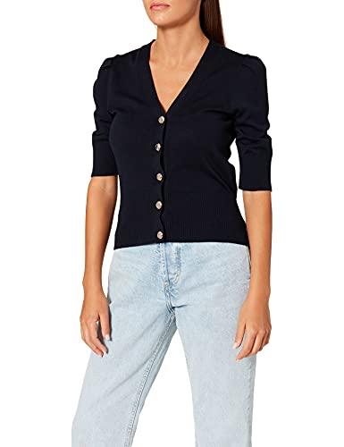 Morgan Pull Veste Manche 3/4 212-MBALI Camiseta, Azul Marino, L para Mujer