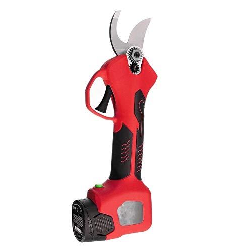 no-branded Cxleur 500W 16,8V eléctrica Recargable poda Tijeras de poda Tijeras de jardín Pruner sécateur Poder de Corte Herramienta de Corte con 2 baterías (Color : Rojo, Size : Gratis)