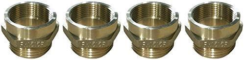 "Dixon Valve & Coupling FM1515F Brass Fire Equipment, Hex Nipple, 1-1/2"" NPT Female x 1-1/2"" NST (NH) Male (4-(Pack))"