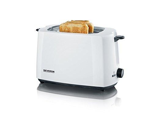 SEVERIN Automatik-Toaster, Inkl. Brötchen-Röstaufsatz, 2 Röstkammern, 700 W, AT 2286, Weiß/Schwarz