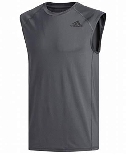 adidas Camiseta de Tirantes Techfit para Hombre, con Logo Impreso y Malla elástica
