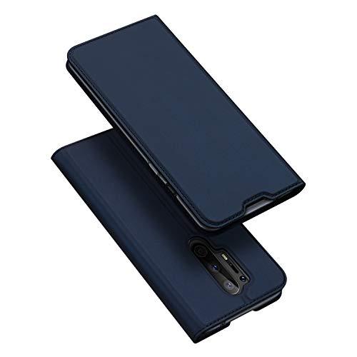 DUX DUCIS Hülle für Oneplus 8 Pro, Leder Klappbar Handyhülle Schutzhülle Tasche Hülle mit [Kartenfach] [Standfunktion] [Magnetisch] für Oneplus 8 Pro (Blau)