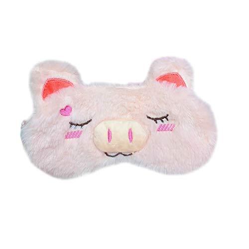 Máscara de ojos de cerdo Máscara de dormir de dibujos animados Cubierta de sombra de ojos de felpa Venda de ojos con venda para los ojos Diadema para niña Juguete de felpa Regalos para niños ✅