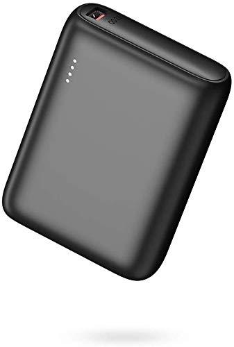 BABAKA Mini Power Bank 10000mAh Batería Externa Pequeño y Ligero con USB C PD18W & QC 3.0 Cargador Portátil Compacto con Tecnología de Carga Rápida para iPhone Samsung Galaxy y más