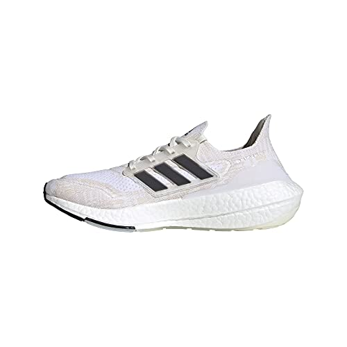 adidas Men's Ultraboost 21 Running Shoes, Non-Dyed/Black/Night Flash, 11