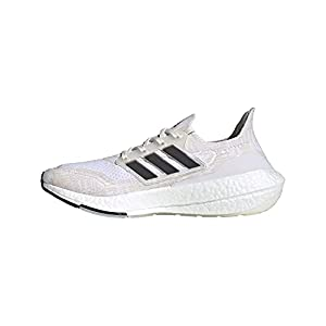 adidas Men's Ultraboost 21 Running Shoes, Non-Dyed/Black/Night Flash, 9
