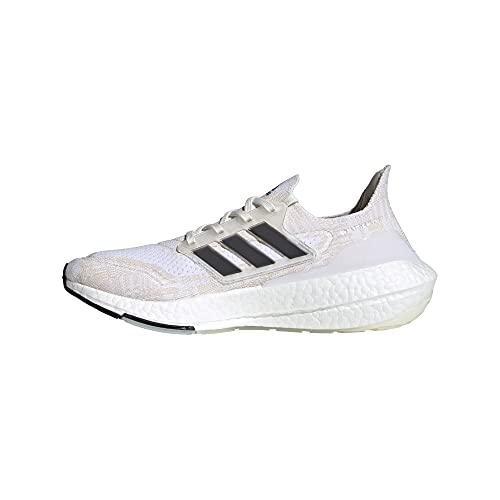 adidas Men's Ultraboost 21 Primeblue Running Shoes, Non-Dyed/Black/Night Flash, 13