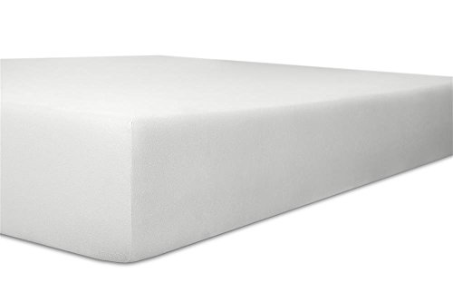 Kneer Spannbettlaken, Spannbetttuch, Fein-Jersey Qualität 50 Verschiedene Größen und Farben 120 x 200-130 x 200 cm Weiss