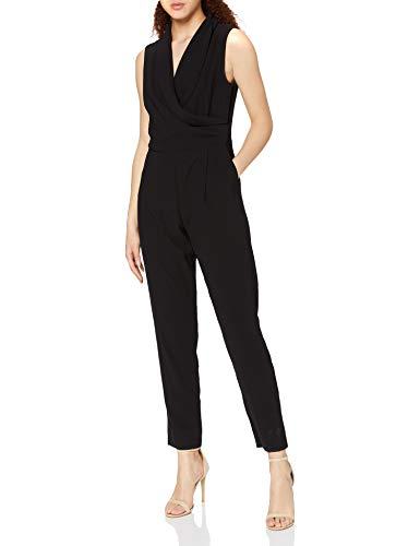 Jacques Vert Women's Wrap Top Jumpsuits, Black (Black), 10