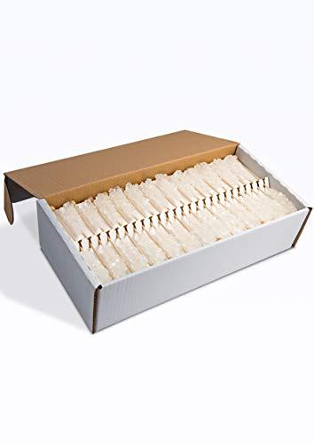 Kandiszucker Sticks weiß einzeln | 100 Stk im Karton | Zucker-Sticks Tee-Kandis Kandissticks Zuckersticks
