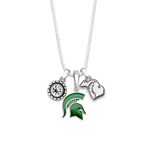 FTH Licensed Michigan State Spartans Home Sweet School College University Pendant Necklace with Gift Box