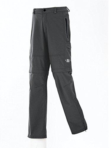 Maul Ontario Pantalon de Errances d'extérieur pour Homme élastique avec Fermeture éclair, idéal pour Les, Gris - Gris foncé