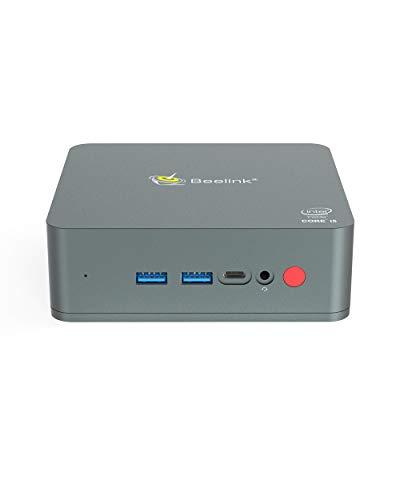Beelink U57 Mini PC Windows 10 Pro Desktop Computer 8GB Ram 128GB SSD, Intel Core i5 5257U Prozessor mit Intel HD Graphik 6100M /Type-C/Dual-HDMI/Dual-WLAN /BT4.0
