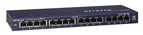 NETGEAR (GS116) Switch Ethernet 16 Ports RJ45 Métal Gigabit (10/100/1000), switch RJ45 pour une Connectivité Simple et Abordable, Protection ProSAFE, Garantie à Vie Idéal pour les PME et TPE