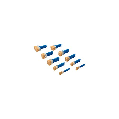 Silverline 359900 Disposable Paint Brush 50pce Einmalpinsel-Set 50-tlg, Borsten – Natur/Zwinge – Silber/Griff Blue Pantone 300c