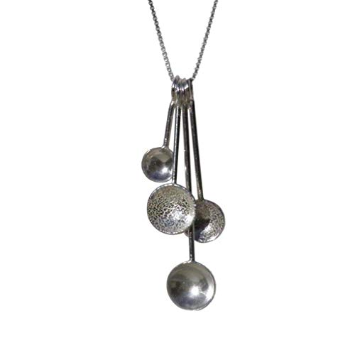 Handmade 925 Sterling Silver Spoons Necklace Gift Wrapped and Bag. Handcrafted in the UK