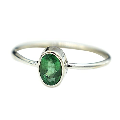 AAA Quality Natural Emerald Ring emerald natural Easy-to-use jewel Fashion Handmade