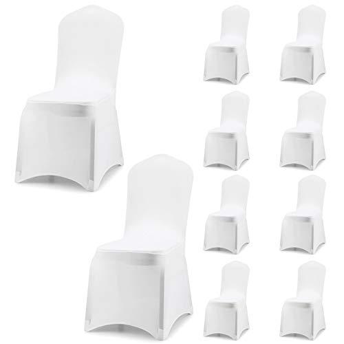 Acelectronic Stuhl Husse, 10 Stück Universell Stuhlhussen Stretch Stuhlbezug Stuhlüberzug der Haus...