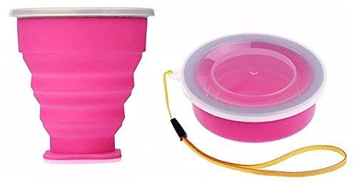 Taza de agua portátil plegable de 300 ml de grado alimenticio, taza de agua, de silicona, retráctil, plegable, para viaje, para exteriores, (color: azul) (color: verde)