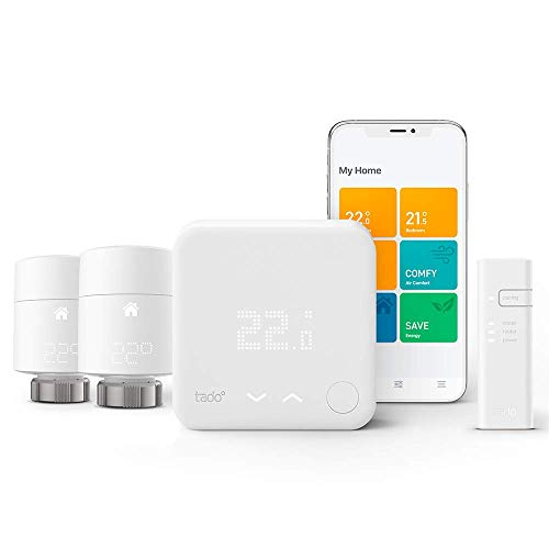 meilleure qualité attrayant et durable fabrication habile tado° Smart Thermostat - Starter Kit V3+ with Two Add-on Smart Radiator  Thermostats for Multi-Room Control, Works with Amazon Alexa, Apple HomeKit,  ...