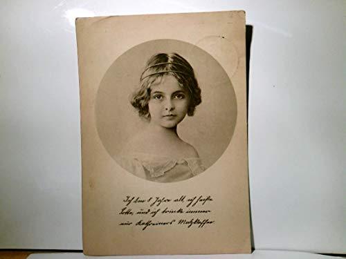Kathreiners Malzkaffee. Werbekarte. Lotte, 8 jähriges Mädchen. Portrait. Alte Werbe - AK s/w., ge. 1927
