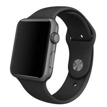 Pulseira Sport Tamanho Feminino Preto Compativel com apple watch de 42mm e 44mm