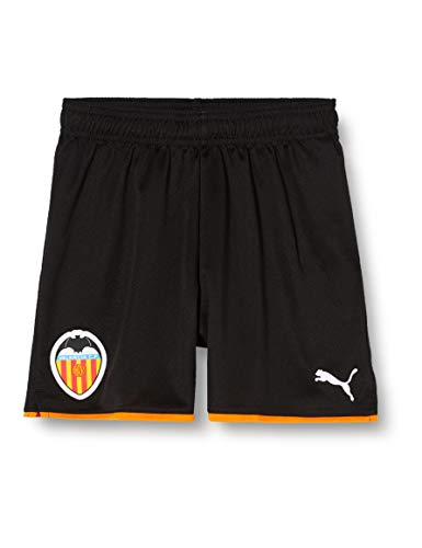 Puma Valencia CF Temporada 2020/21-Shorts Replica Jr Pantalón Corto, Unisex, Black-Vibrant Orange, 128