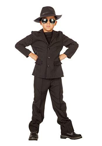 Generique - Disfraz de gánster Negro niño