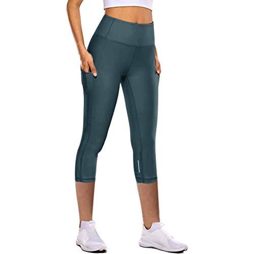 Damen Enge Elastische Schnell Trocknende Yogahosen, für Frauen Reflektierende Sieben-Punkte-Yogahosen, Damen Leggings, Classics Stretch Workout Fitness Jogginghose Eaylis