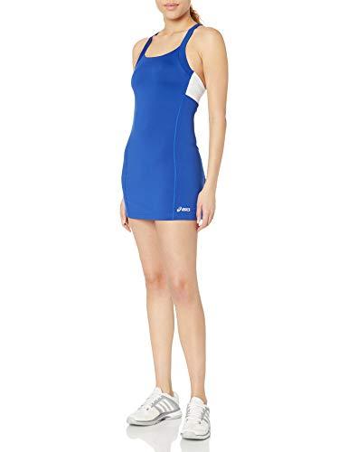 Asics–Vestido deportivo para mujer. - TE2523, Tennis, Azul real/Blanco