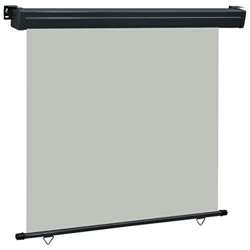 pedkit Balkon-Seitenmarkise 170 × 250 cm Grau UV-beständig und Wasserbeständig Senkrechtmarkisen Sonnenschutz Sichtschutz Windschutz Markise Außenrollo