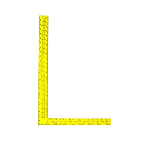 Swanson Tool TS154 Steel Rafter Square 16-Inch X 24-Inch (Yellow with Black Gradations)