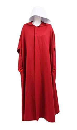 qingning Handmaid Kostüm Damen Magd Rot Kleid Umhang Robe Cape Mantel Halloween Cosplay Bekleidung Anzug
