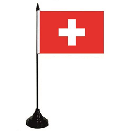 U24 Drapeau de table - Drapeau de la Suisse - 10 x 15 cm
