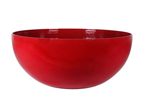 Art en Vogue Pot de Fleurs, Coupe de Fleurs Roto, Finition Brillante, Rouge, 50x22cm