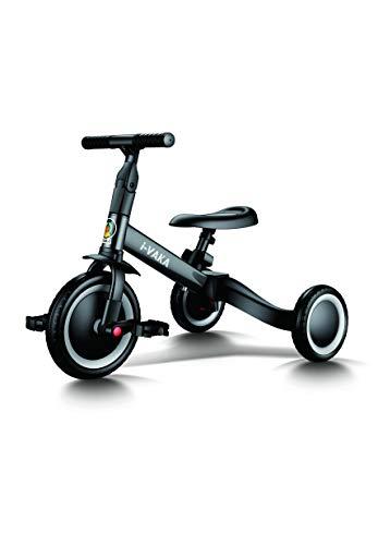 All Road - Ivaka - 4in1 BALANCE BIKE / BIKE / TRIKE - Black - Easily Converts No Tools Needed - Adjustable seat & Handlebars - Age 1-5 Years