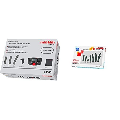 Märklin 29000 - Digital-Startpackung, Spur H0, Startset mit C-Gleis Schienen und Mobile Station & Start up 24904 - C-Gleis-Ergänzungspackung C4, Spur H0