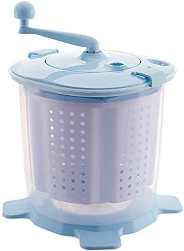 Sooiy Mini Waschmaschine • Waschsalon • Dörr manuelle Hand tragbare elektrische • Nein • 10 Liter Fassungsvermögen für Camping, Washing Machines,Blau