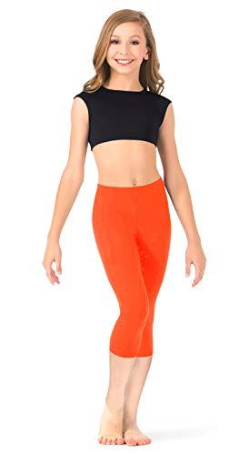 FUNGO Kinderen 3/4 legging, effen kleur, yogabroek, veel kleuren hardloopbroek FD34