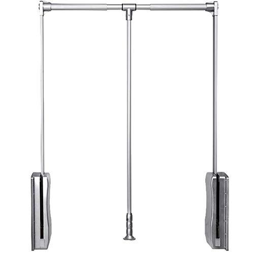 45x30x145 cm Legno Multistrato//Metallo Cromato Laccato Bianco//Rovere//Cromato CRIBEL Home Servetto