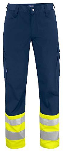 ProJob 646533–10-c46/146Hi-Vis Taille Hose, gelb/marineblau