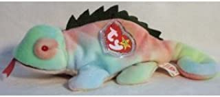 TY Beanie Baby - IGGY the Iguana (tye-dyed w/ spikes) by Ty