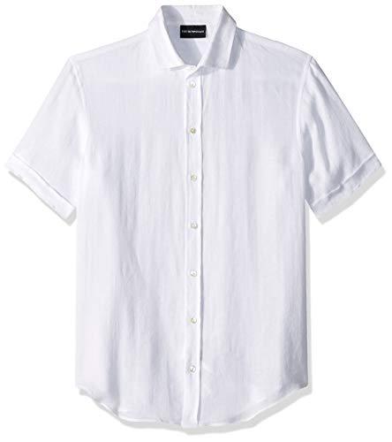 Price comparison product image Emporio Armani Men's Linen Sport Shirt,  White,  S