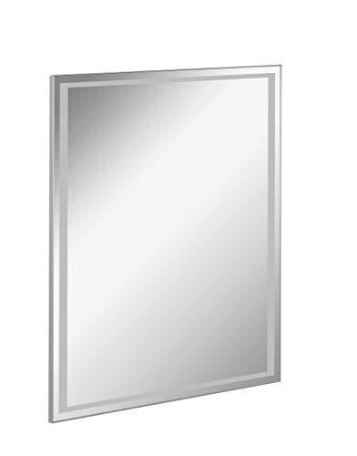 FACKELMANN LED Spiegel FRAMELIGHT 60 / Wandspiegel mit umlaufender LED-Beleuchtung/Maße (B x H x T): ca. 60 x 70 x 3 cm/Lichtfarbe: Kaltweiß/Leistung: 13,2 Watt/austauschbare LED-Beleuchtung