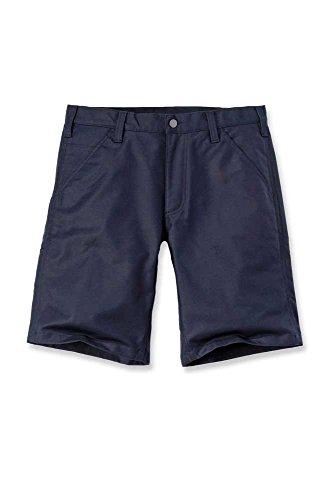 Carhartt Mens Rugged Professional Stretch Canvas Shorts, Navy, W38