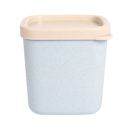 Mr. Bamboo Dosen aus hochwertigen Bambusfasern   Umweltfreundliche Lagerung von Lebensmitteln   BPA-frei und spülmaschinen- & mikrowellengeeignet (Blau, 380ml)