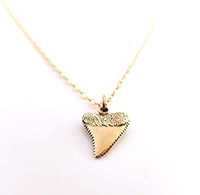 Shark Tooth Gold Charm Necklace - Dainty 14k Gold Filled Jewelry