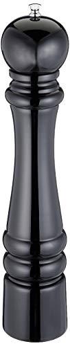 Amefa eucalyptushout hoogglanzend, zwarte kruidenmolen, 35 cm hoog, zout- en pepermolen met keramische maalwerk, zoutmolen/pepermolen, ongevuld, eucalyptus hout, keramische molen, 7 x 7 x 35 cm