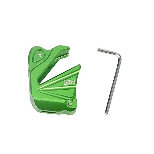Dcolor Carcasa de Llave Cubierta de la Caja de la Llave de la Motocicleta CNC para Z300 Z750 Z800 Z1000 / SR Cubierta Protectora de la Llave Verde