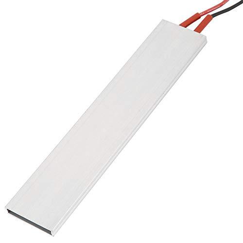 Luftvärmare 150 x 28,5 mm/5,9 x 1,1 tum, aluminiumhölje PTC värmeelement platta termostatisk värmare (12 V 220 ?)